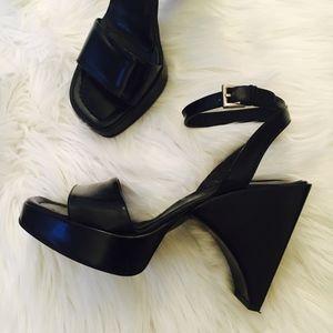 RARE Vintage PRADA Chunky Ankle Strap Heel